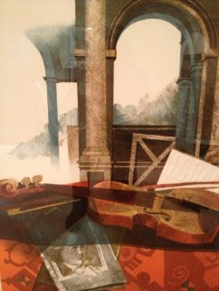 Music Partial Suite, Set of 3 LIthographs Limited Edition Print - Sunol Alvar