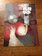 Bouquet Sur La Table 1991 Limited Edition Print by Sunol Alvar - 1