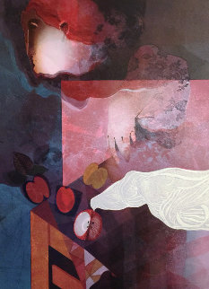 Woman With Dove 1992 Limited Edition Print by Sunol Alvar