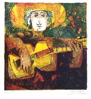 Musicians, Set of 6 Lithograph 1978 Limited Edition Print by Sunol Alvar - 3