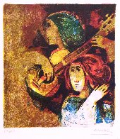 Musicians, Set of 6 Lithograph 1978 Limited Edition Print by Sunol Alvar - 4