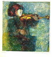 Musicians, Set of 6 Lithograph 1978 (Early) Limited Edition Print by Sunol Alvar - 5
