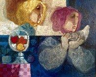 Comparturata Paloma oil on canvas 33x38 Original Painting by Sunol Alvar - 0