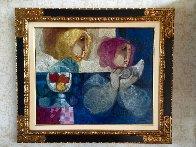 Comparturata Paloma oil on canvas 33x38 Original Painting by Sunol Alvar - 1