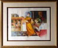 From the Suite:  Lyrique Solo 1993 Limited Edition Print by Sunol Alvar - 1
