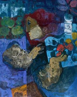 Untitled  Painting 1990 28x32 Original Painting by Sunol Alvar