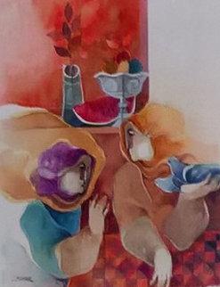 2 Figure Studies Watercolors (set of 2) 2003  24x26 Watercolor - Sunol Alvar