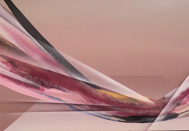 Flight At Dusk 20x40 Original Painting by Elba Alvarez
