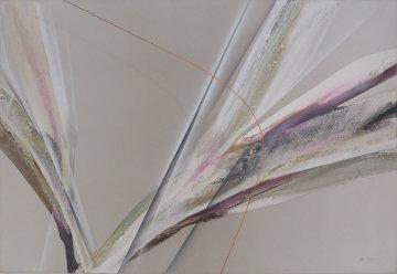 Untitled Abstract Painting 1982 48x72 Original Painting by Elba Alvarez