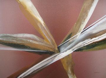 Abstract Action 1979 40x50 Original Painting by Elba Alvarez
