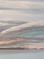 Sea At Dawn Triptych Watercolor 1987 47x72 Super Huge Watercolor by Elba Alvarez - 4