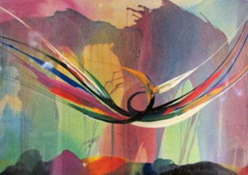 Untitled  1996 34x56 Huge  Watercolor - Elba Alvarez