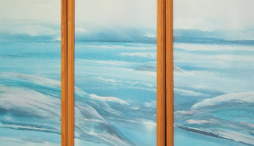 Ocean Seascape, 3 Watercolors (Triptych) 1987 43x51 Watercolor - Elba Alvarez