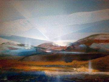 Untitled Landscape 1979 30x40 Original Painting - Elba Alvarez
