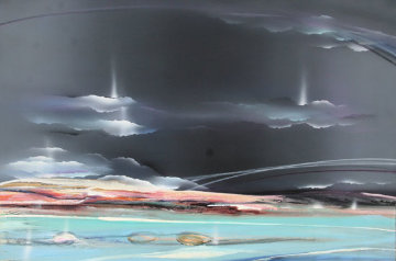 Untitled Painting 1988 48x72 Original Painting by Elba Alvarez
