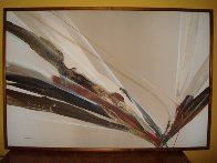 Untitled Abstract 1981 51x75 Original Painting by Elba Alvarez - 1