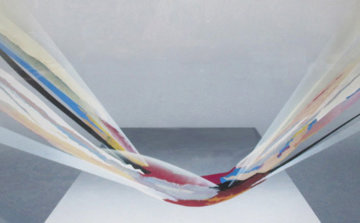 Clara  1980 41x55 Huge Original Painting - Elba Alvarez