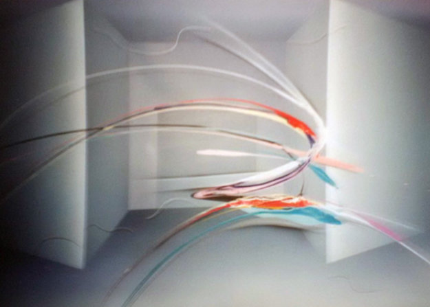 Acoustical Laser 1989 48x72 Original Painting by Elba Alvarez