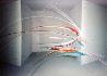 Acoustical Laser 1989 48x72 Original Painting by Elba Alvarez - 0