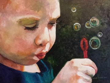Bubble Maker 2   34x44 Original Painting by Amanda Dunbar