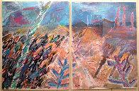 A Walk Through Monument Valley  1987 52x76  Huge Original Painting by Amanda Watt - 1