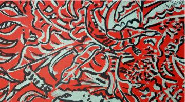 Untitled Original 1997 15x26 Original Painting - Amanda Watt
