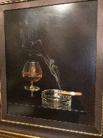 Cigar And Brandy 42x40 Super Huge Limited Edition Print by Teimur Amiry - 3