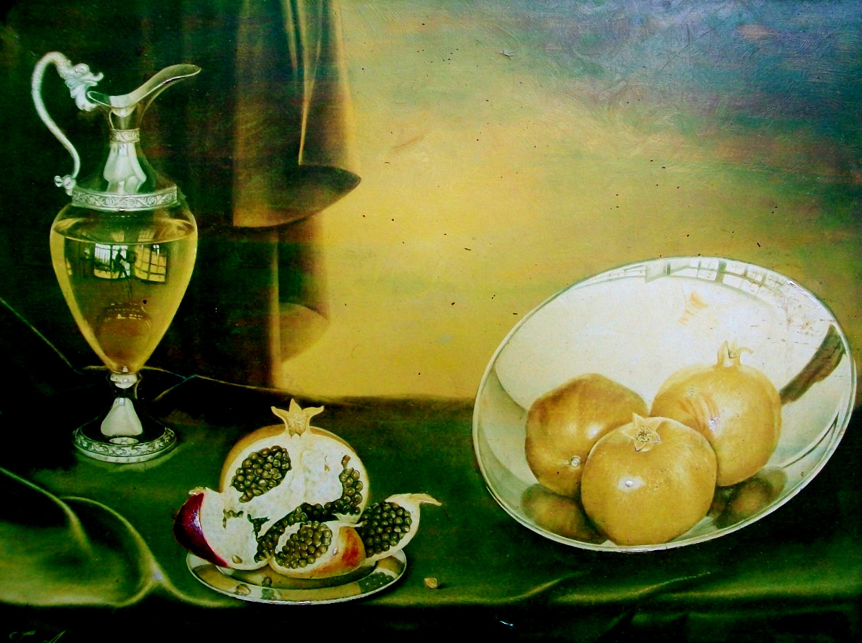 Untitled Still Life 24x28 Super Huge Original Painting by Teimur Amiry