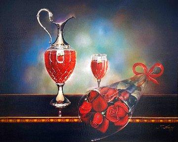 Untitled Painting 33x39 Original Painting - Teimur Amiry