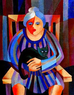 Stray Cat 36x29 Original Painting - Thomas Andersen