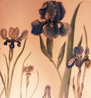 Irises Watercolor 1973 30x24 Watercolor by Diane Anderson