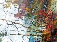 Savored Memory 1980 Watercolor 52x43 Super Huge Watercolor by Diane Anderson - 11