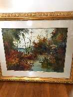 Savored Memory 1980 Watercolor 52x43 Super Huge Watercolor by Diane Anderson - 1