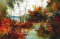 Savored Memory 1980 Watercolor 52x43 Super Huge Watercolor by Diane Anderson - 0