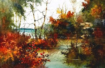 Savored Memory 1980 Watercolor 52x43 Huge Watercolor - Diane Anderson