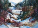 Winter Hike 37x44 Original Painting by Diane Anderson - 0