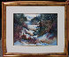 Winter Hike 37x44 Original Painting by Diane Anderson - 1