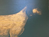Medium Dog (Olive Green And Byzantine Gold) 1998 Limited Edition Print by Joe Andoe - 2
