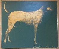 Medium Dog (Olive Green And Byzantine Gold) 1998 Limited Edition Print by Joe Andoe - 1