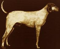 Medium Dog (Rust) 1998 Limited Edition Print by Joe Andoe - 0