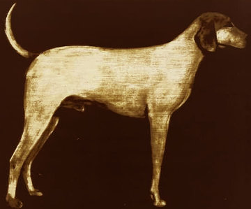 Medium Dog (Rust) 1998 Limited Edition Print by Joe Andoe