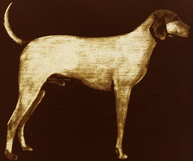 Medium Dog (Rust) 1998 Limited Edition Print by Joe Andoe