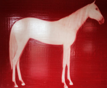 Red Horse 2000 60x72 Original Painting by Joe Andoe