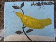 Bird on a Limb 1992 8x10 Original Painting by Joe Andoe - 1