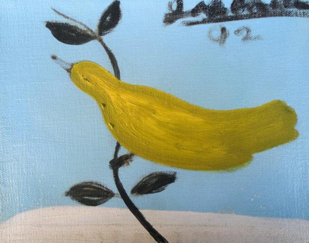 Bird on a Limb 1992 8x10 Original Painting by Joe Andoe