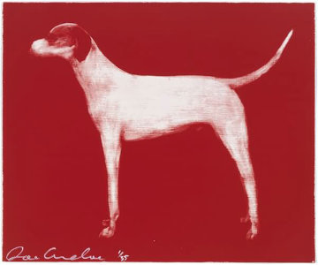 Small Dog (Red, Putty, and Chocolate) Limited Edition Print by Joe Andoe