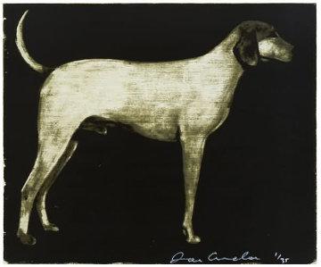 Medium Dog (Olive, Rust, and Burgundy) 1998 Limited Edition Print by Joe Andoe