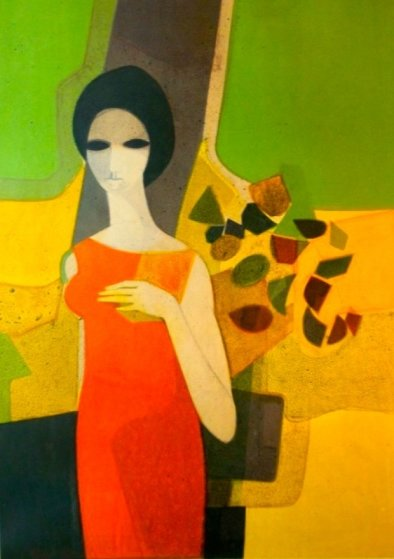 La Robe Rouge 1969 Limited Edition Print by Andre Minaux