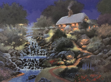 Cascade Falls 2000 Limited Edition Print by Andrew Warden