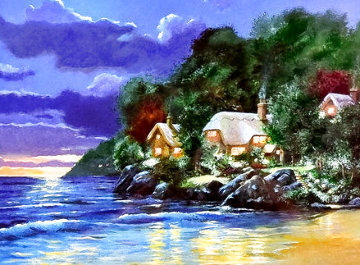 Cove Cottages 1998 Limited Edition Print - Andrew Warden